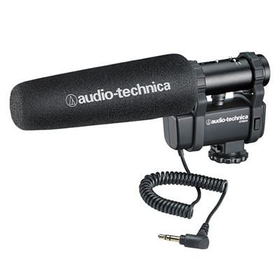 AudioTechnica AT8024 StereoMono Camera Mount Condenser Microphone