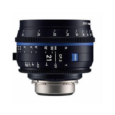 Image of Zeiss CP.3 21mm T2.9 Lens - PL Mount (Feet)