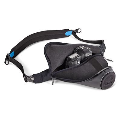 Image of Agua Quick-draw Storm-proof Holster 45 Pro DSLR - Black/Blue 45