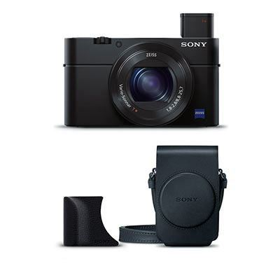 Sony Cyber-Shot RX100 III with Grip and Case
