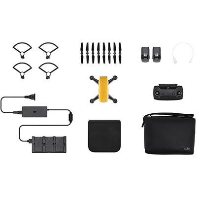 DJI Spark Mini Drone Fly More Combo - Sunrise Yellow