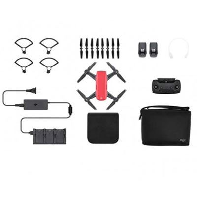 DJI Spark Mini Drone Fly More Combo - Lava Red