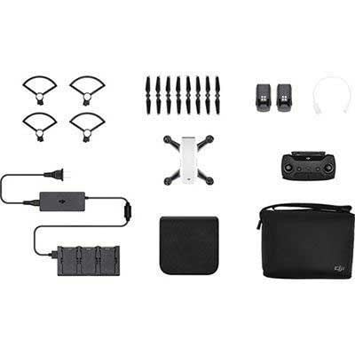 DJI Spark Mini Drone Fly More Combo - Alpine White