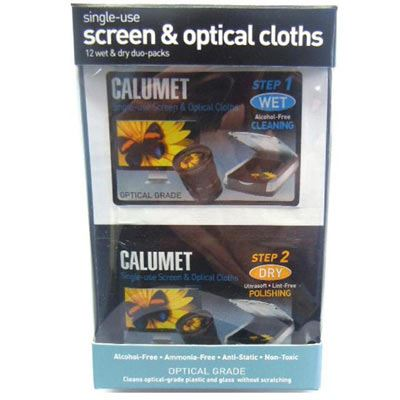 Image of Calumet Box of 12 Wet and Dry Screen and Optical Cloths
