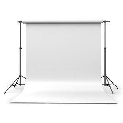 Calumet Arctic White 1.35m x 11m Seamless Background Paper