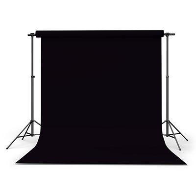 Image of Calumet Black 2.72m x 25m Seamless Background Paper