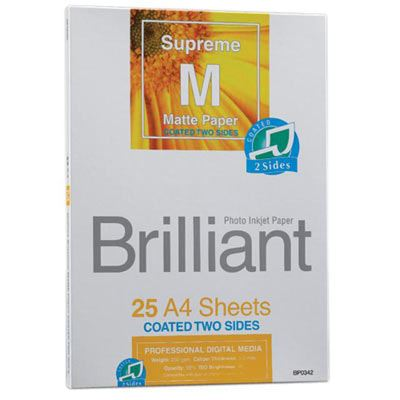Brilliant Supreme Double Sided Matte A4 x 25 sheets