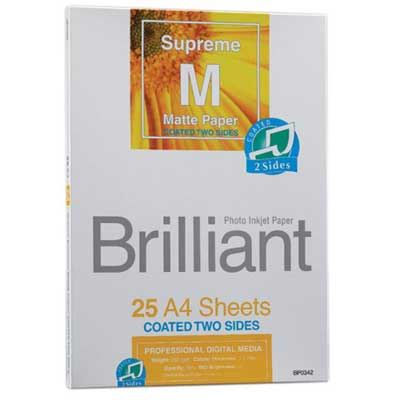 Brilliant Supreme Double Sided Matte A4 x 50 sheets