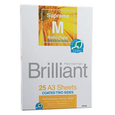 Brilliant Supreme Double Sided Matte A3 x 25 sheets