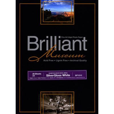 Brilliant Museum Inkjet Paper - SilverGloss White A4 25 sheets - 300gsm