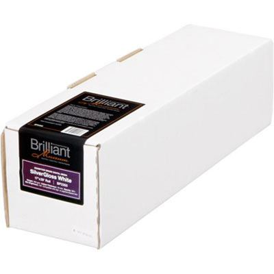 Brilliant Museum Inkjet Paper - SilverGloss White Roll - 432mm x 12m (1 roll) - 300gsm