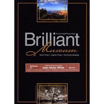 Brilliant Museum Inkjet Paper - Satin Matte White A4 25 sheets - 300gsm