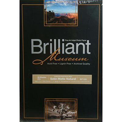 Image of Brilliant Museum Inkjet Paper - Satin Matte Natural A3 25 sheets - 300gsm