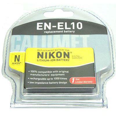 Calumet EN-EL10 Rechargeable Replacement Battery for Nikon Cameras