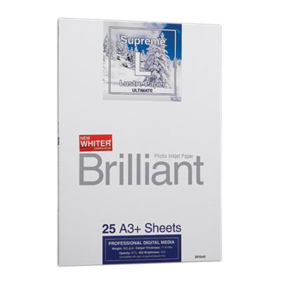 Brilliant Supreme Lustre Paper A3+ x 25 Sheets