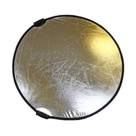 Bowens Collapsible Reflector 56cm - Gold / Silver