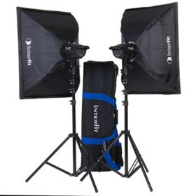 Interfit F121 200w Twin Head Softbox Kit