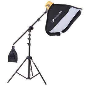 Interfit Honey Badger Single Head Softbox and Boom Arm Kit
