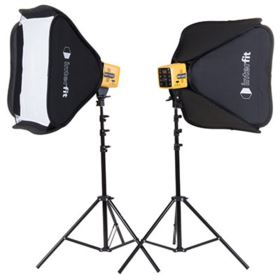 Interfit Honey Badger Twin Head Softbox Kit