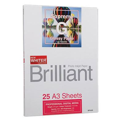 Brilliant Supreme Glossy A3 x 25 sheets