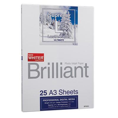 Brilliant Supreme Lustre Paper A3 x 25 Sheets