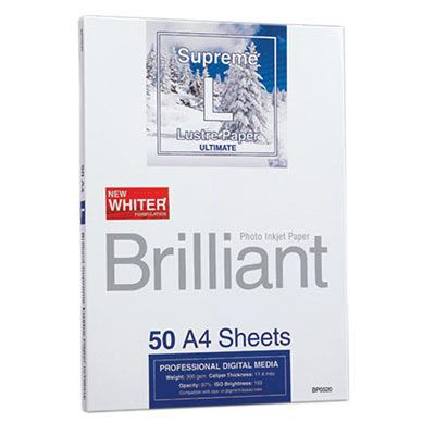 Brilliant Supreme Lustre Paper A4 x 50 Sheets