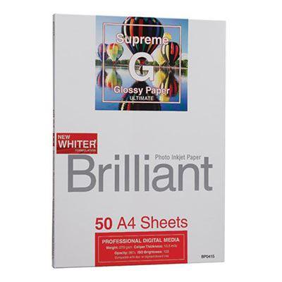 Brilliant Supreme Ultimate Glossy Inkjet Paper A4 - 50 sheets