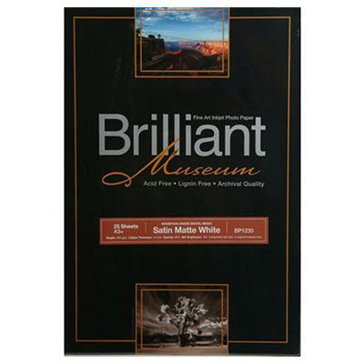 Image of Brilliant Museum Satin Matte White A3+ 25 Sheets