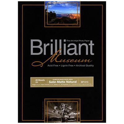Brilliant Museum Inkjet Paper - Satin Matte Natural A4 25 Sheets
