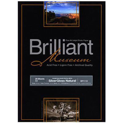 Image of Brilliant Museum Inkjet Paper - SilverGloss Natural A4 25 Sheets