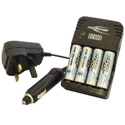 Image of Ansmann Global Line EC 800 Charger with 4x AA Batteries