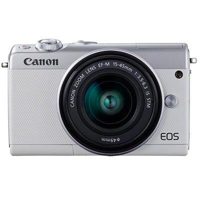 Image of Canon EOS M100 Digital Camera + 15-45 Limited Edition White
