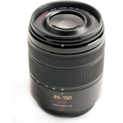 Used Panasonic 45-150mm f4.0-5.6 ASPH OIS Black Micro Four Thirds Lens