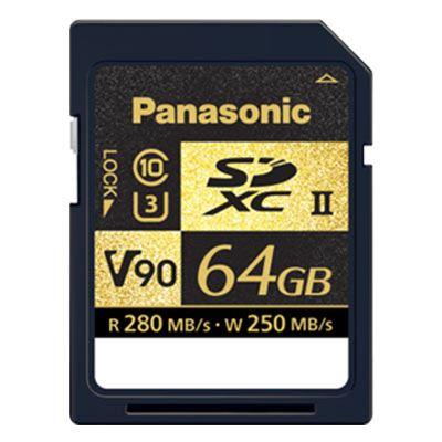 Panasonic 64GB SDXC 280MB/s(Read) 250MB/s(Write) V90 Card