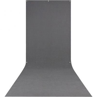 Westcott Rich Neutral Grey Backdrop with Sweep Skirt 5ft x 12ft