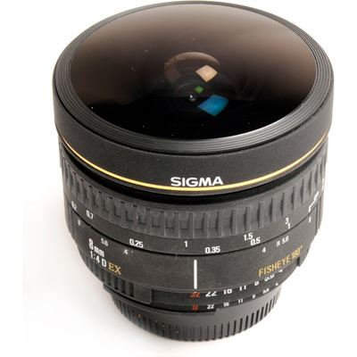 Used Sigma 8mm Fisheye F4 D EX Lens