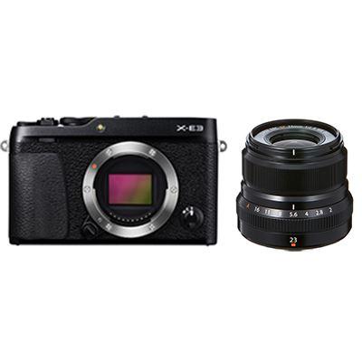 Fujifilm X-E3 Digital Camera with 23mm Lens - Black