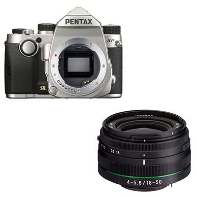 Pentax KP Digital Camera with 18-50mm Lens - Silver