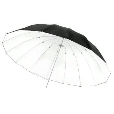 Image of Calumet 16-panel Silver / Black Umbrella - 165cm