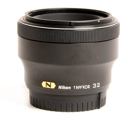 Used Nikon 32mm f1.2 1 Nikkor Lens - Black