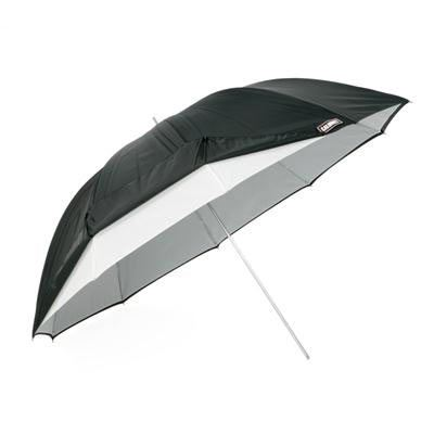 Image of Calumet Black / White Umbrella with Removable Cover - 114cm