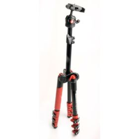 Used Manfrotto Befree One Travel Tripod - Red