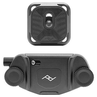 Image of Peak Design Capture Camera Clip V3 with Standard Plate (Black)