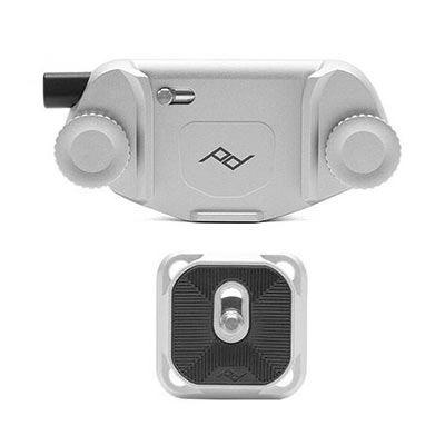 Image of Peak Design Capture Camera Clip V3 with Standard Plate (Silver)