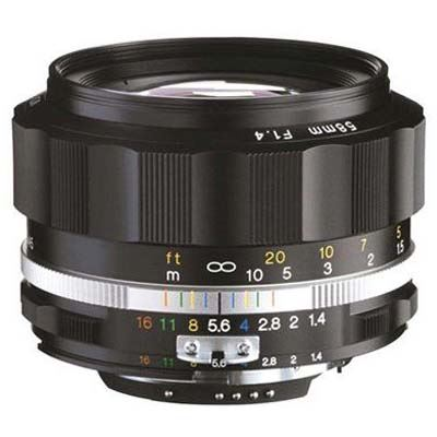 Used Voigtlander 58mm F1.4 SLII-S Nokton - Nikon Fit - Black