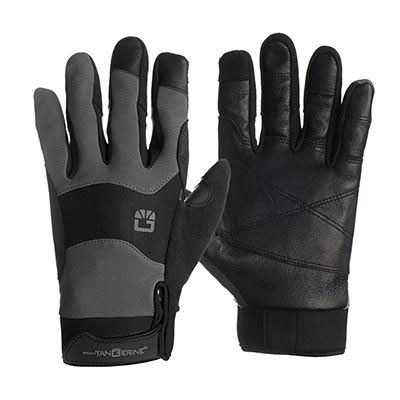 Bright Tangerine ExoSkin Gloves - Leather Armour (XXL)