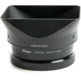 Used Nikon HN-CP18 Lens Hood and UR-E24 Adapter Ring - Black