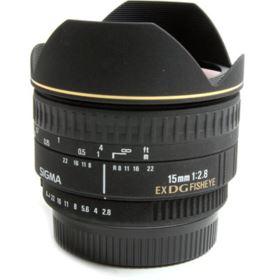 Used Sigma 15mm f2.8 EX DG Fisheye Lens - Pentax Fit