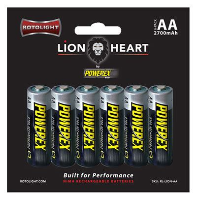 Rotolight Lionheart AA Rechargeable Batteries - 6 pack