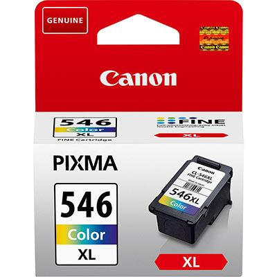 Image of Canon CL-546XL High Yield C/M/Y Colour Ink Cartridge